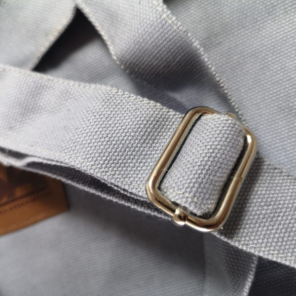 detail view of canvas bag