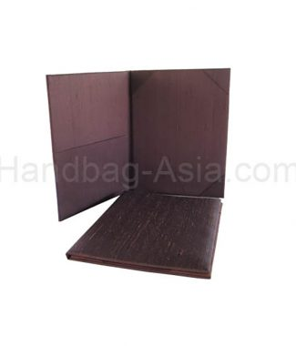 brown dupioni silk wedding folder
