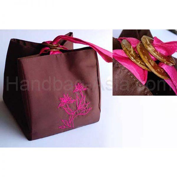 Small embroidered silk bag