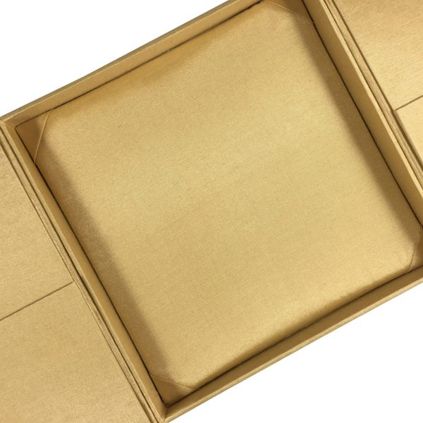 silk gatefold wedding box