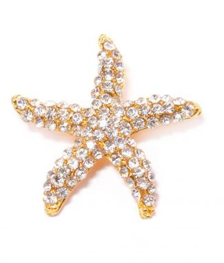gold starfish brooch from Thailand