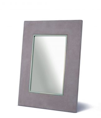 grey suede picture frame