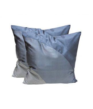 Grey Thai silk pillow cover