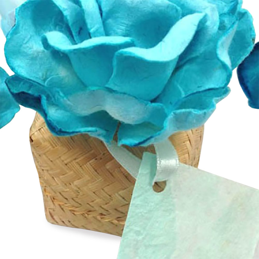 Wholesale Flower Embellished Bamboo Wedding Favour Boxes Cheap