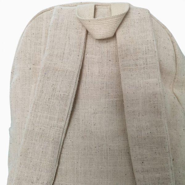 backside sleeve backpack hemp