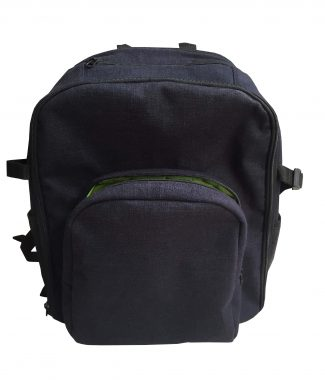 Navy blue hemp backpack