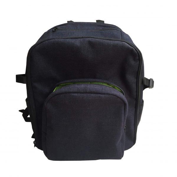 Navy blue hemp backpack