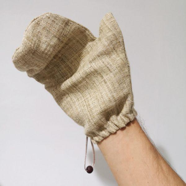 hemp glove for body scrub