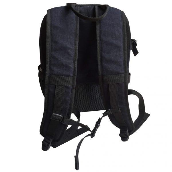 Navy blue hemp backpack for trekking