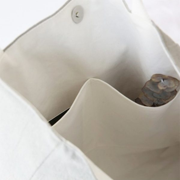 interior of cotton tote bag
