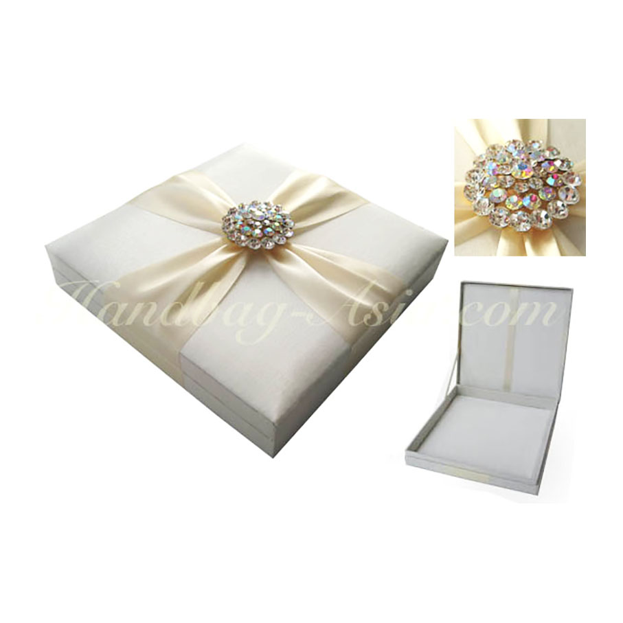 Prestige Hand-Made Ivory Wedding Invitation Box With Hinged Lid ...