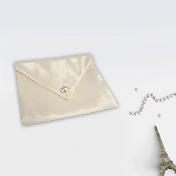 beautiful ivory silk envelope