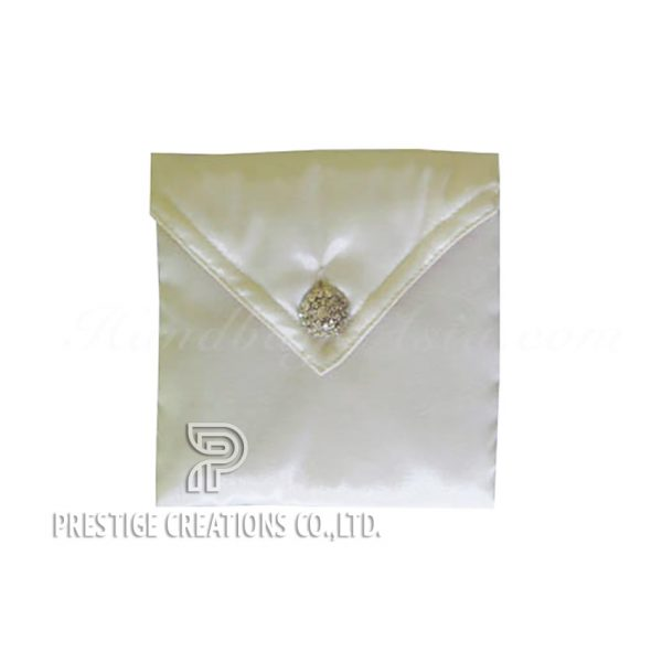 luxury ivory silk wedding envelope