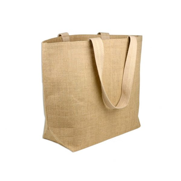 Large tote bag with hemp textile