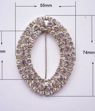 Large oval buckle for wedding cards and embellishment