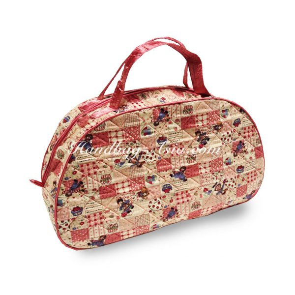 Large quilted cotton handbag
