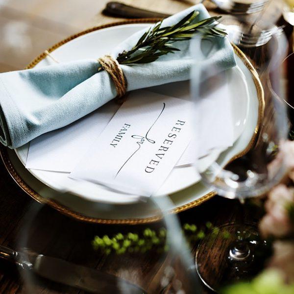 Rustic linen napkins