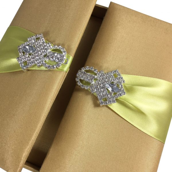 luxury silk wedding box