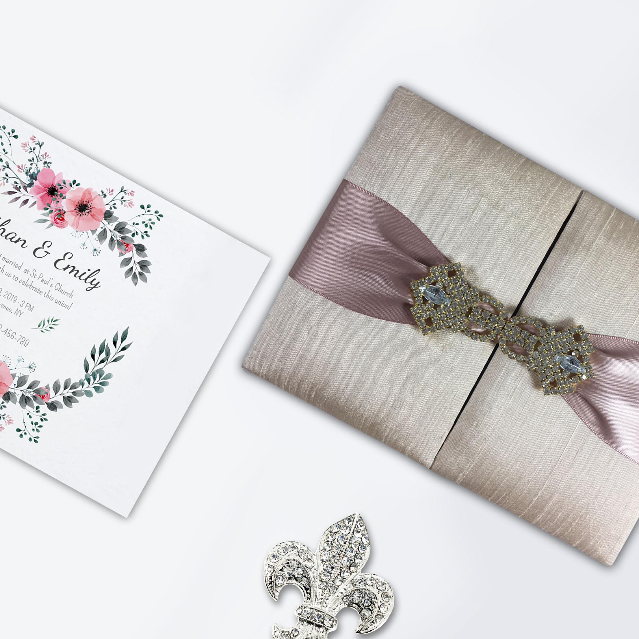 Thai Wedding Gifts: The Original Thai Silk Wedding Invitation Box With Gold