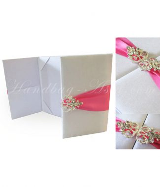 Luxury white wedding folder
