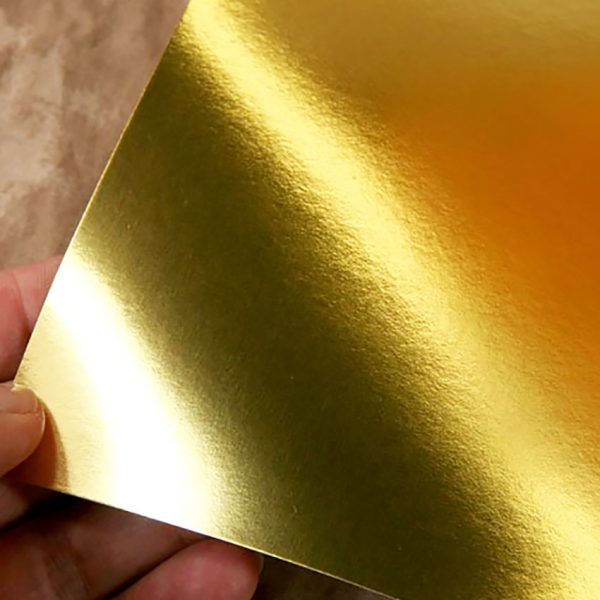 metallic gold paper for packaging boxes