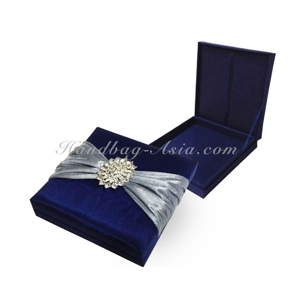 Midnight Blue Wedding Invitation Box - Handbag-Asia.com | Luxury ...