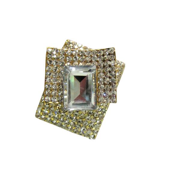 modern rhinestone brooch