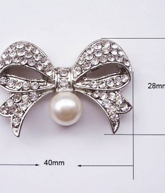medium size pearl bow for wedding cards