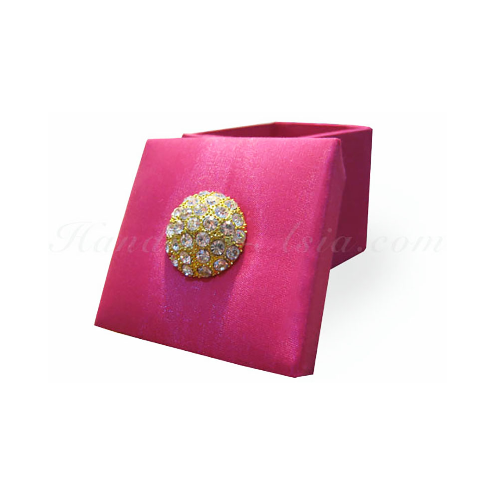 Beautiful Silk Covered Wedding Gift Favour Box From Thailand
