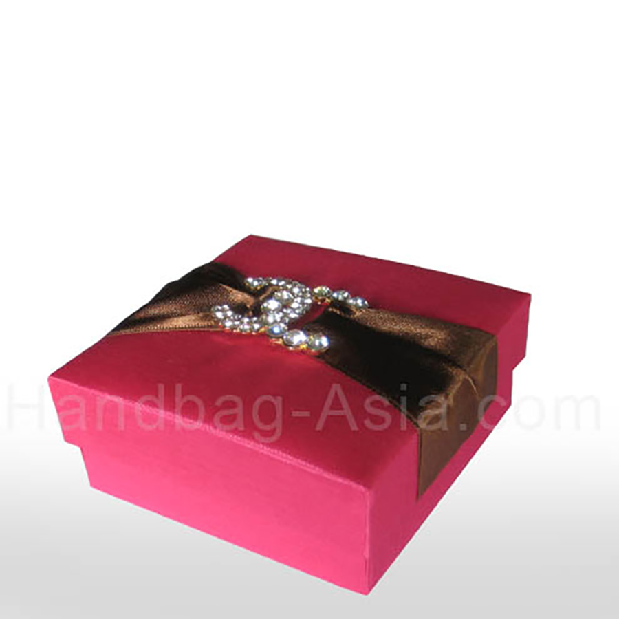 Luxury Fuchsia Pink Cd Brooch Wedding Box For Favours