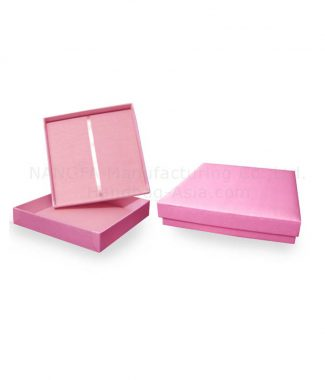 pink silk wedding box for invitations
