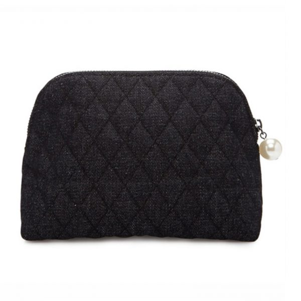 Quilted denim jeans bags