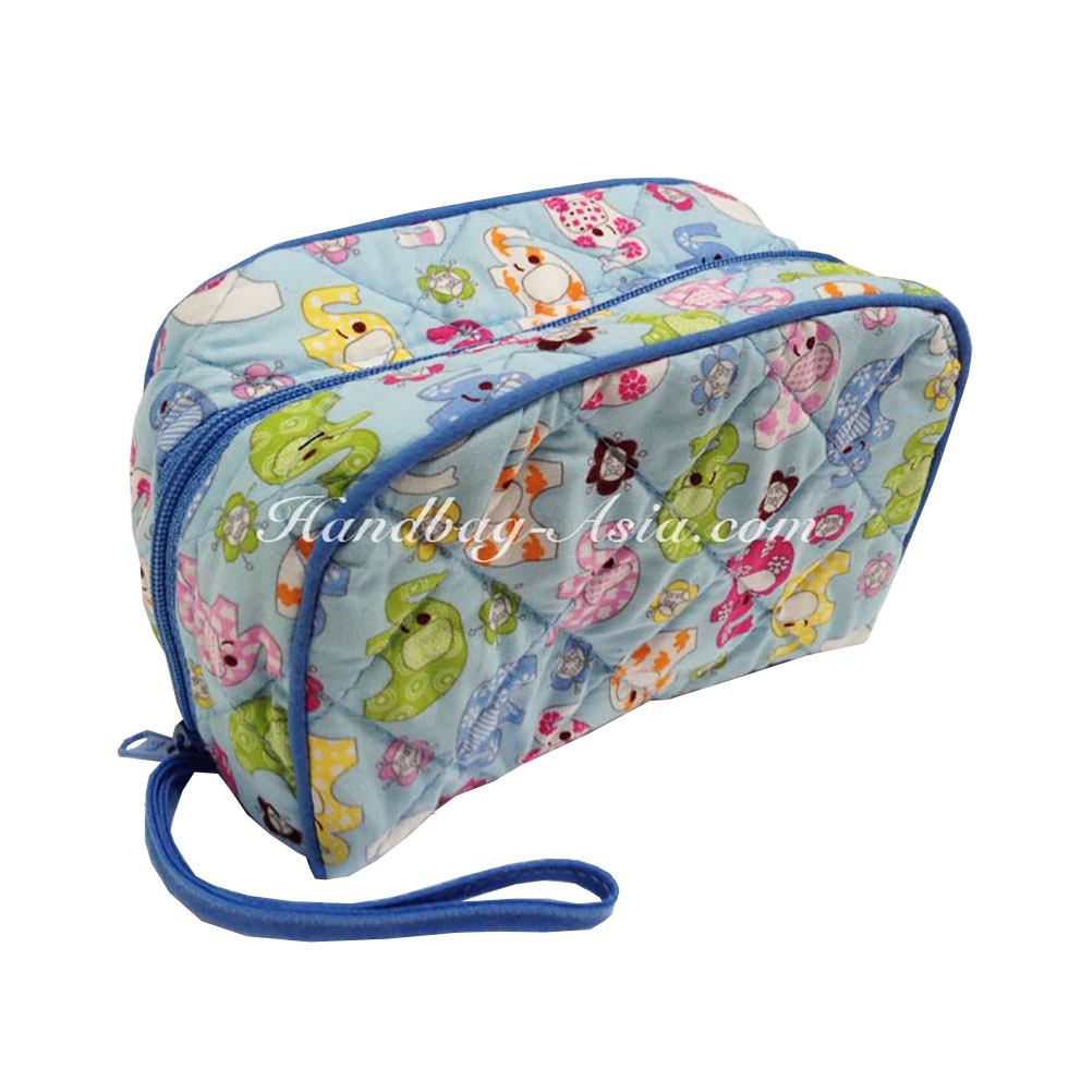 Quilted Kids Cotton Cosmetic Bag