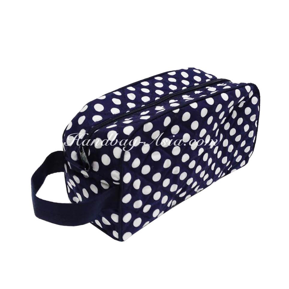 d062a0db5c6c Cute Polka Dot Cotton Cosmetic Bag - Handbag-Asia.com