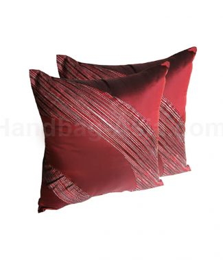 Red Thai silk cushion set