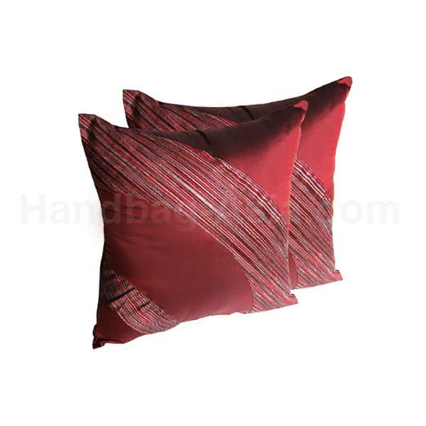 Red Thai silk cushion set
