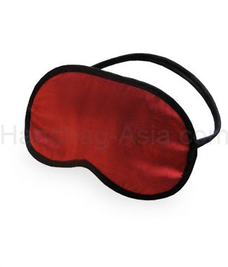 Red Thai silk sleeping mask