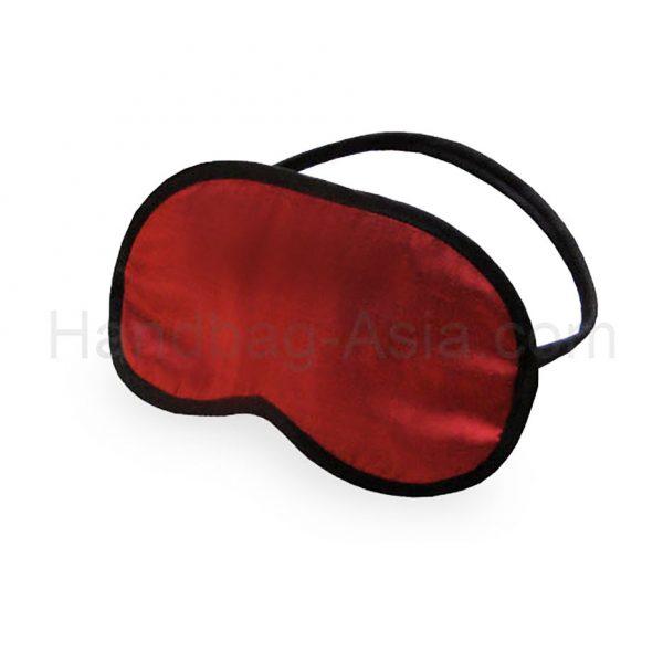 Red Thai silk sleeping mask