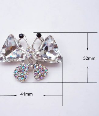 butterfly brooch for wholesale with rhinestones from Thailand