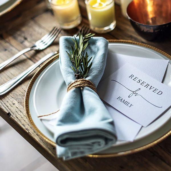 Linen fabric napkin