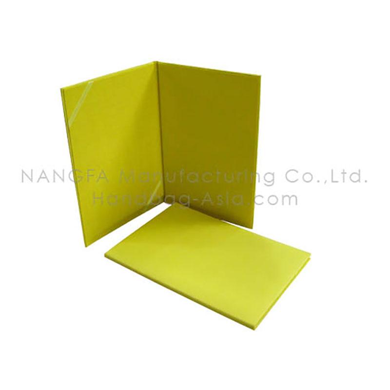 Yellow Silk Certificate Holder