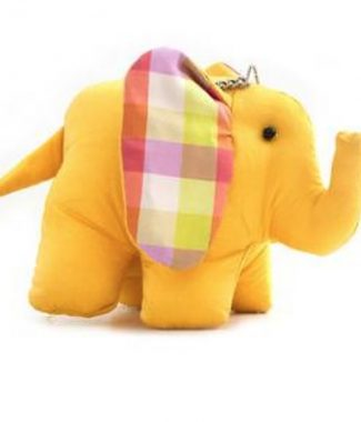 yellow silk elephant
