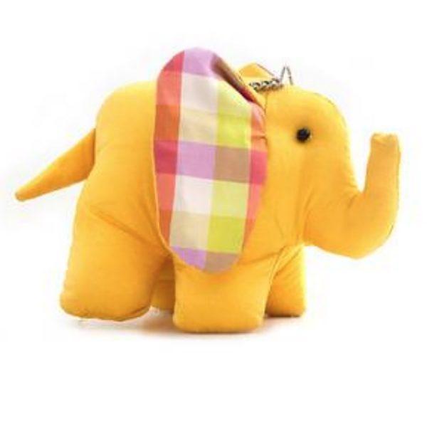 yellow silk elephant