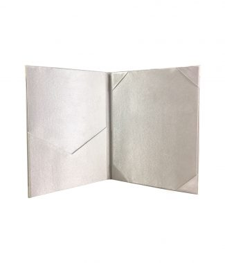 high-end silk pocket folder