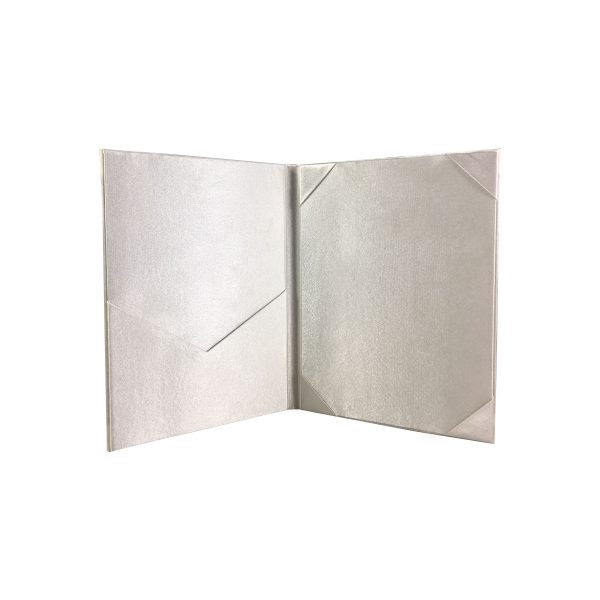high-end silk pocket folder