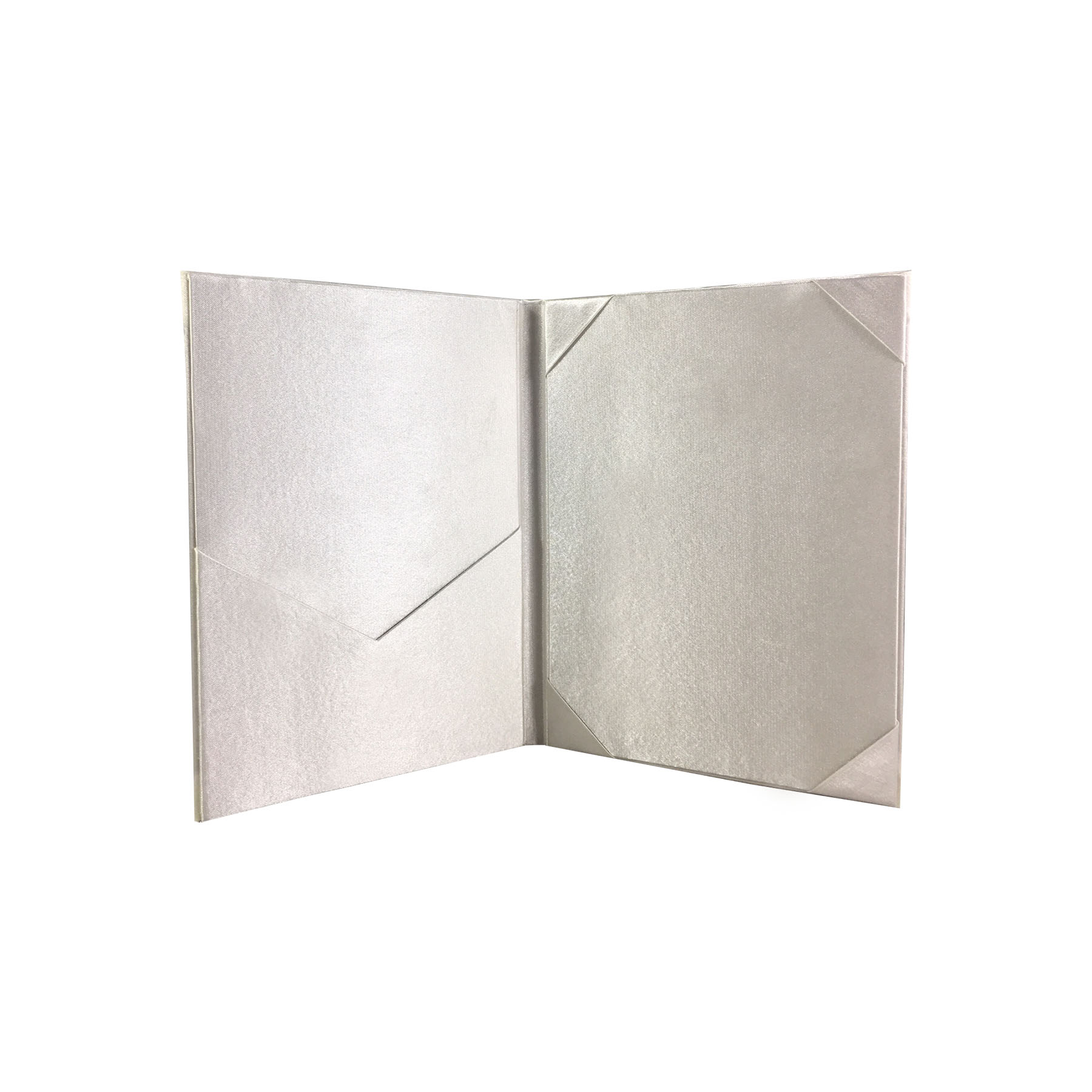 Wedding Invitation Folders With Pocket: Classic Plain Ivory Wedding Folder For Invitation Cards