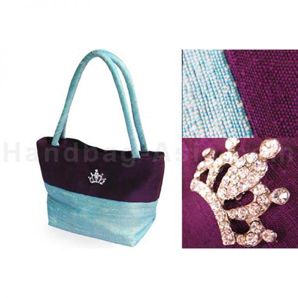 small dupioni silk bag
