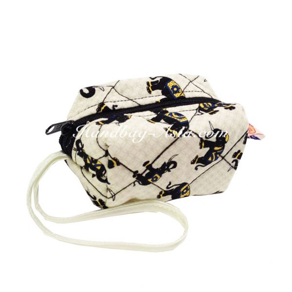 small quilted cotton bag