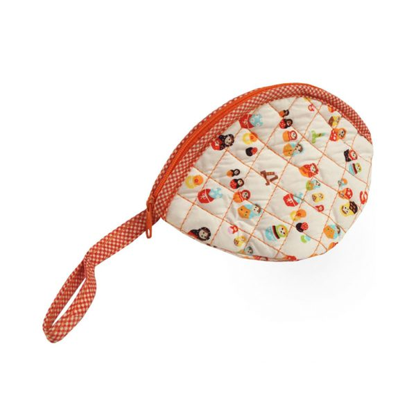small quilted cotton purse