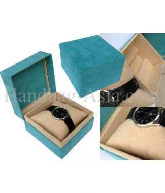 Luxury handmade suede watch box
